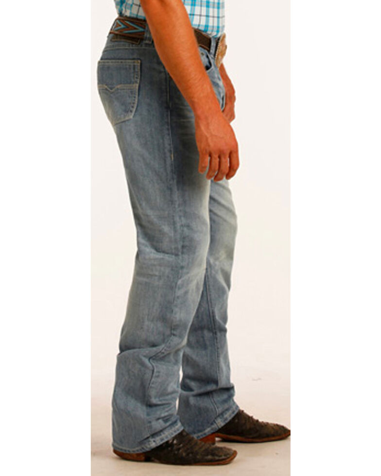 Tuf Cooper Men's Competition Fit Small V Jeans - Straight Leg, Blue, hi-res