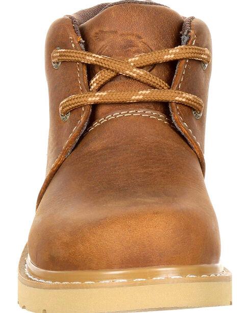 Georgia Youth Boys' Brown Chukka Wedge Boots - Round Toe , Brown, hi-res