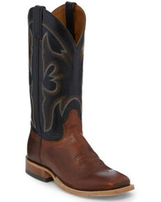 Tony Lama Men's Sealy Volcano Western Boots - Square Toe, Black/brown, hi-res