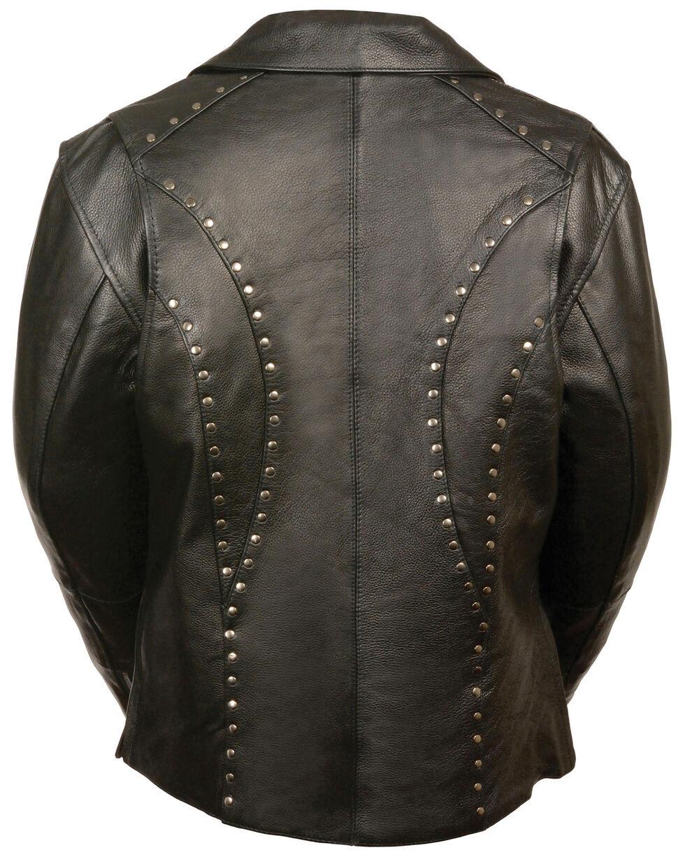 Milwaukee Leather Women's Classic Studded Motorcycle Jacket, Black, hi-res