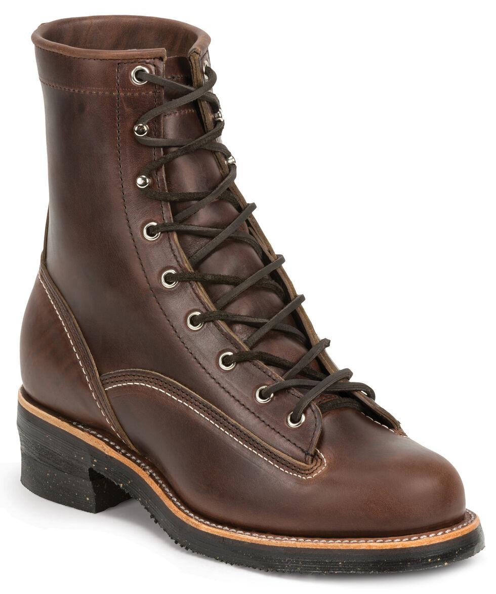 Chippewa Men's 1935 Original Chocolate Mountaineer Logger Boots - Round Toe, Chocolate, hi-res