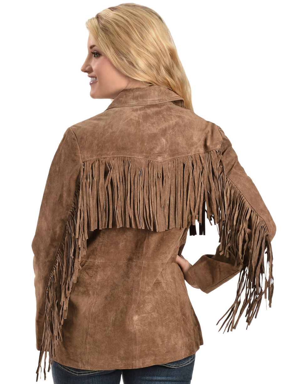 Scully Boar Suede Fringe Jacket, Cinnamon, hi-res