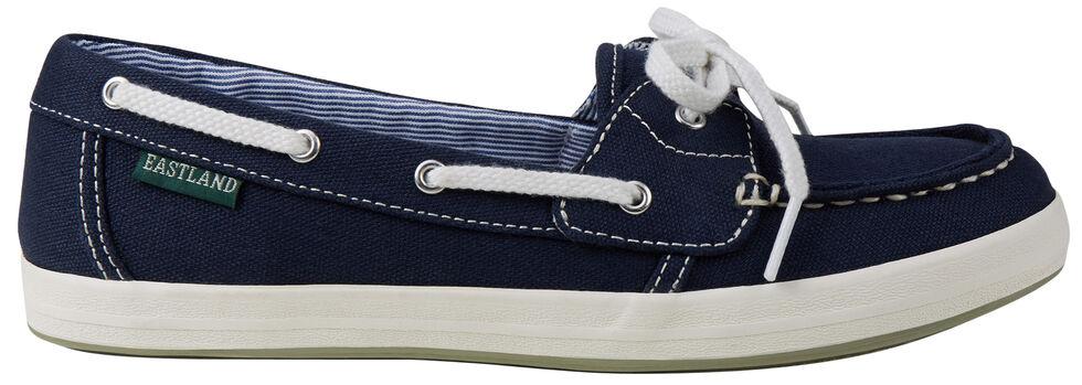 Eastland Women's Navy Canvas Skip Boat Shoe Slip-Ons , , hi-res
