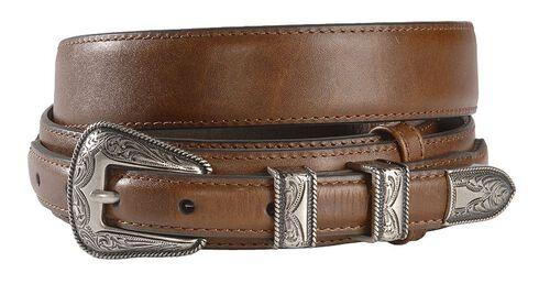 Leather Billet Overlay Ranger Belt, Brown, hi-res