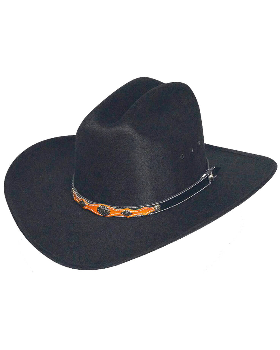 Western Express Youth's Black Faux Felt Hat , Black, hi-res