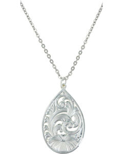 Montana Silversmiths Western Lace Flower Petal Necklace, Silver, hi-res