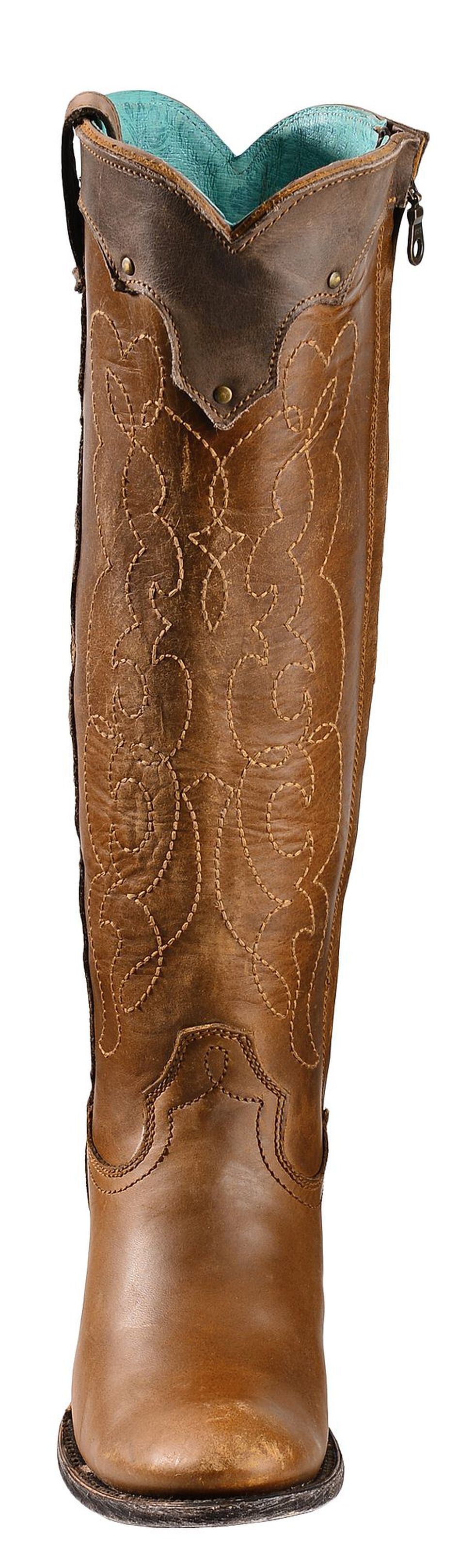 Corral Kats Natural Westport Cowgirl Boots - Round Toe, Natural, hi-res