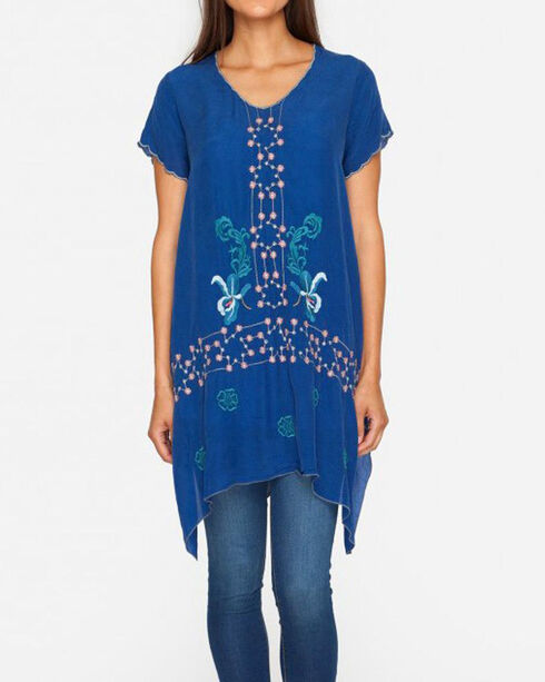 Johnny Was Women's Blue Willamy Blouse , Blue, hi-res