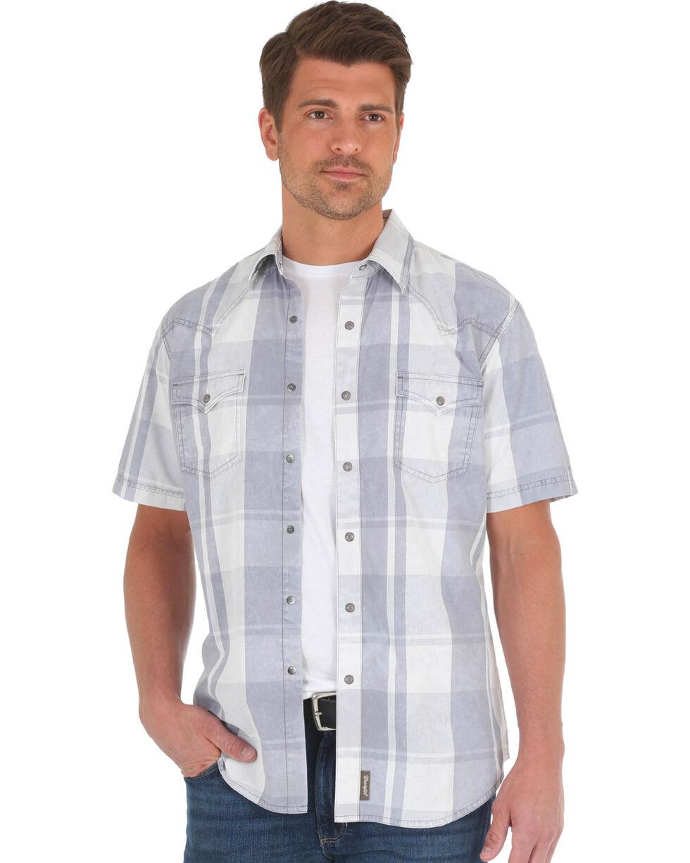 Wrangler Men's Grey Retro Premium Western Shirt , Grey, hi-res