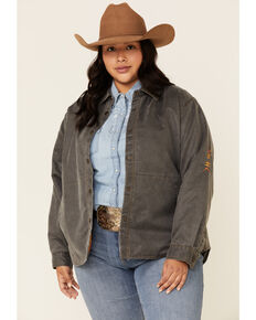 Outback Trading Co. Women's Ash Lightweight Shirt Jacket - Plus, Black, hi-res