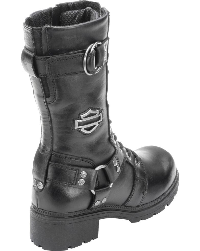 Harley Davidson Women's Eda Lace-Up Harness Boots, Black, hi-res