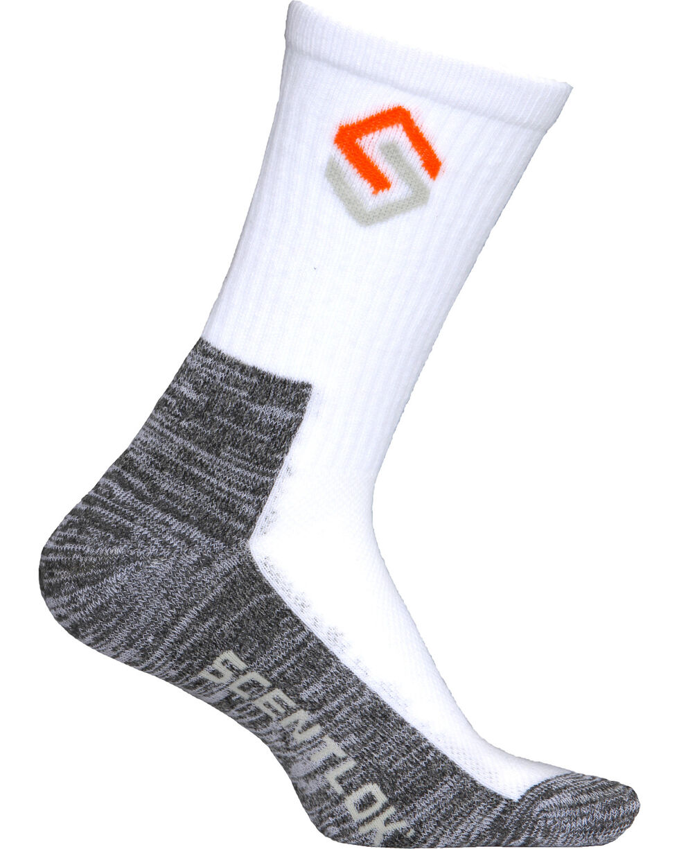 Scentlok Technologies Men's White Everyday Socks, White, hi-res