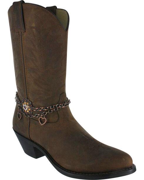 Shyanne® Women's Sunburst Floral Boot Bracelet, Brown, hi-res