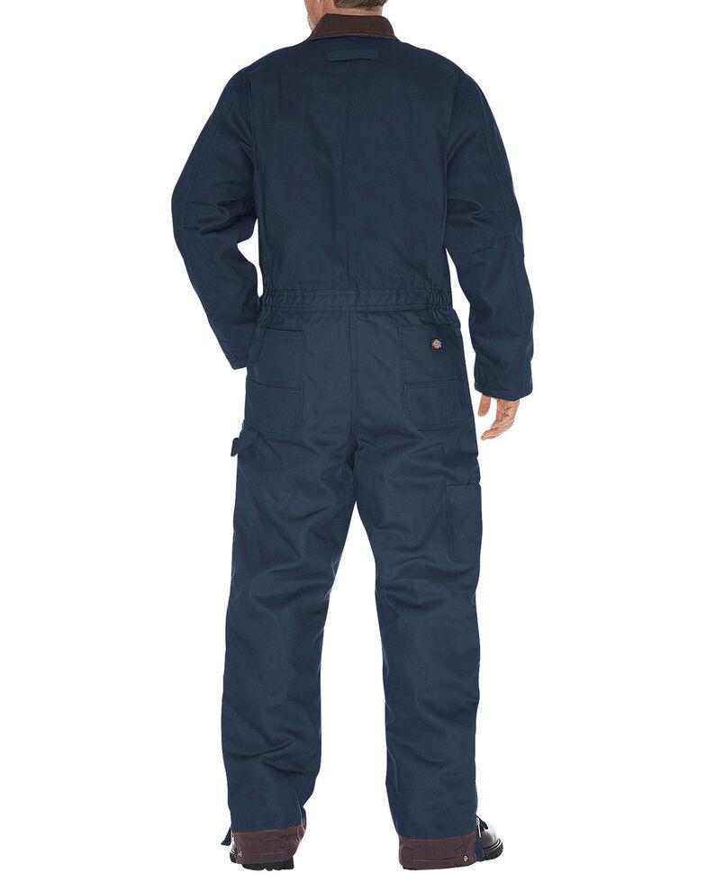 Dickies Men's Duck Insulated Work Coveralls, Navy, hi-res