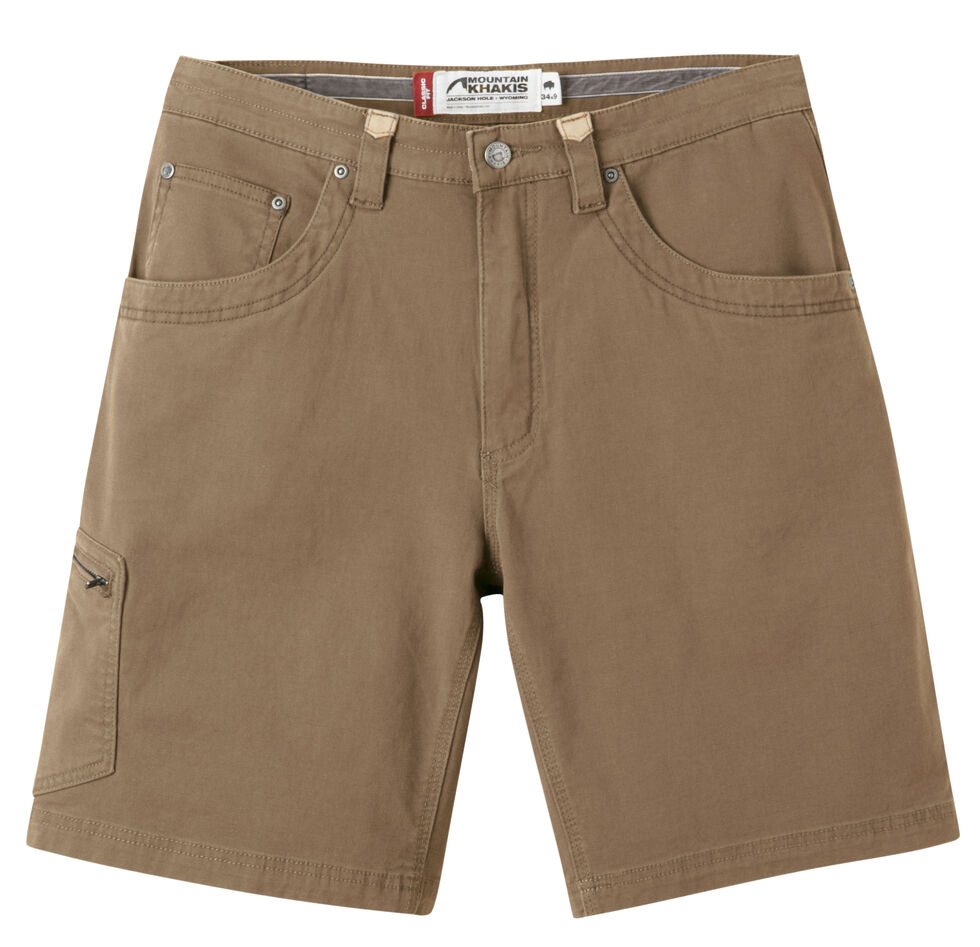 "Mountain Khakis Men's Classic Fit Camber 107 Shorts - 9"" Inseam, Brown, hi-res"
