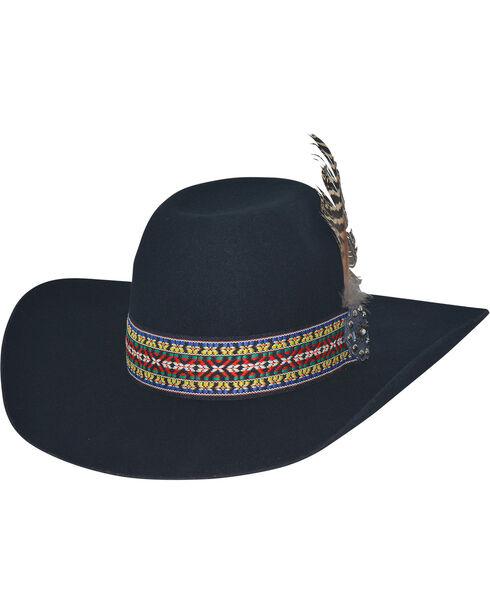 Bullhide Black Feather Dance 4X Felt Hat , Black, hi-res