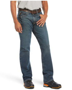 Ariat Men's M3 Ironside Rebar Loose Durastretch Stackable Relaxed Straight Work Jeans - Big , Indigo, hi-res