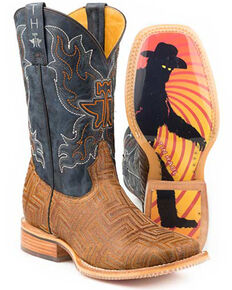 Tin Haul Men's A-Maze-In Western Boots - Square Toe, Brown, hi-res