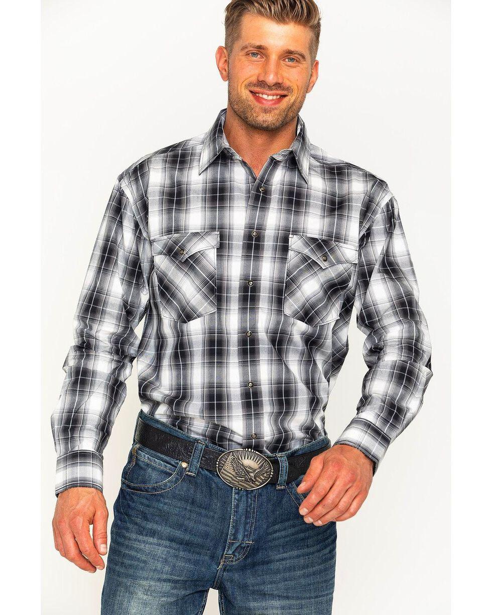 Rough Stock by Panhandle Men's Prospect Ombre Plaid Snap Shirt, Multi, hi-res