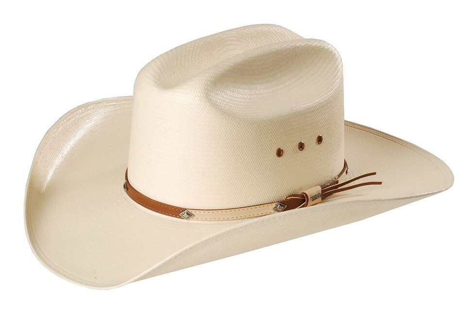 54b5bbfa Zoomed Image Stetson 10X Grant Straw Cowboy Hat, Natural, hi-res