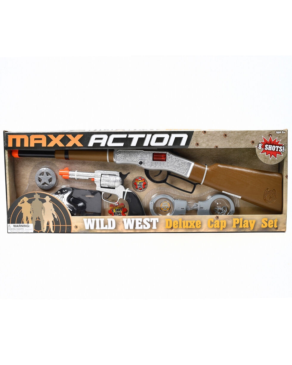 Maxx Action Western Series Deluxe Cap Playset, Silver, hi-res