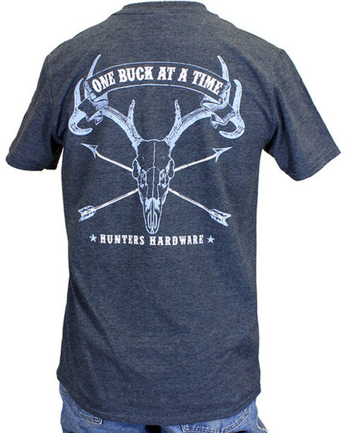 Cowboy Hardware Men's One Buck At A Time Tee, Charcoal, hi-res