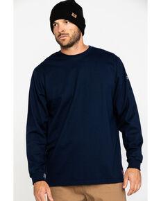 Ariat Men's Navy FR O&G Graphic Long Sleeve Work T-Shirt , Navy, hi-res