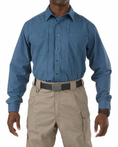 5.11 Tactical Covert Herringbone Shirt, Blue, hi-res