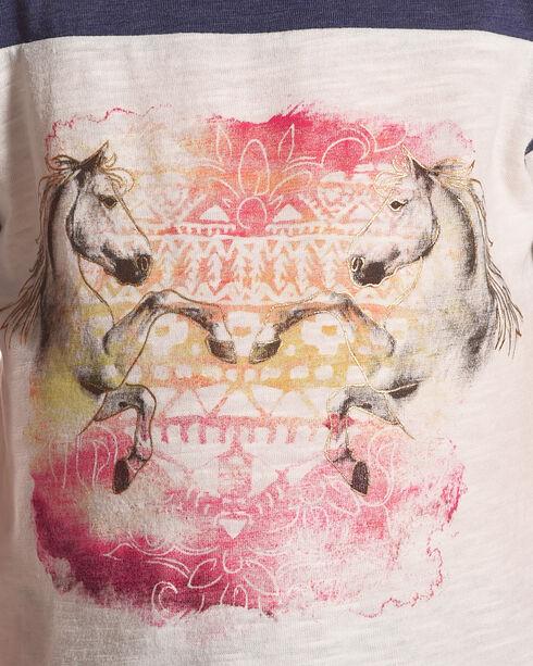 Shyanne Girls' Raglan Horse Graphic Tee, White, hi-res