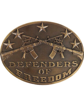 Cody James Men's Defenders of Freedom Buckle , Bronze, hi-res