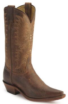 Tony Lama El Paso Goatskin Cowgirl Boots, Peanut, hi-res