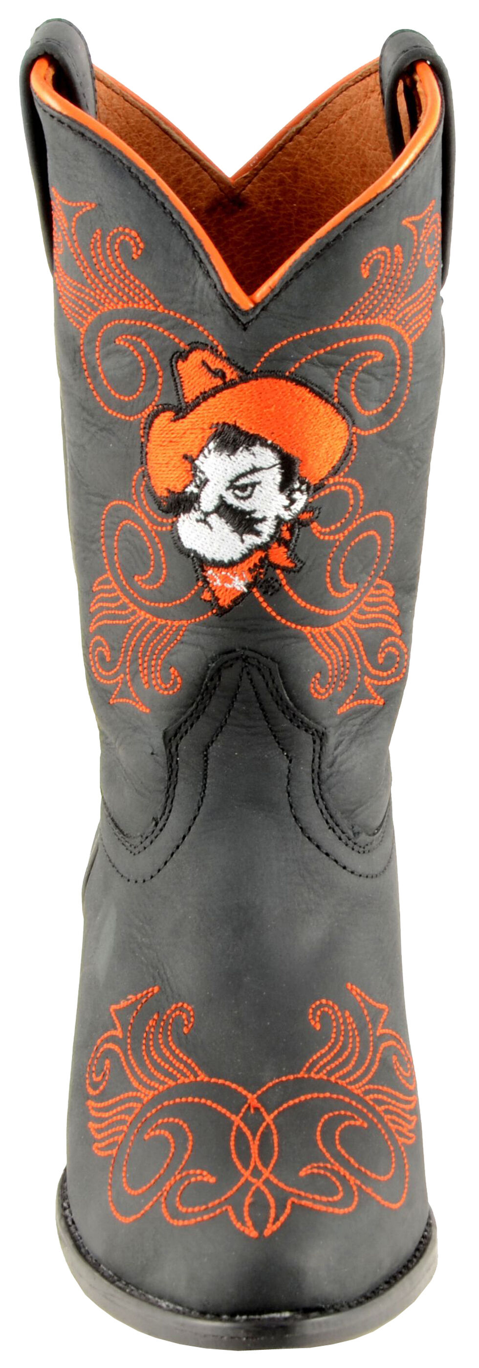 Gameday Boots Girls' Oklahoma State University Western Boots - Medium Toe, Black, hi-res