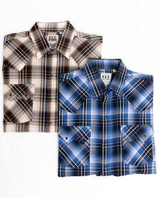 Ely Cattleman Men's Assorted Multi Dobby Plaid Long Sleeve Western Shirt , Multi, hi-res