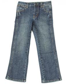 fb0332bb0 Wrangler Retro Boys Denim Dark Slim Straight Jeans , Blue, hi-res