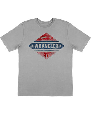 Wrangler Retro Boys' Screen Print Short Sleeve T-Shirt, Grey, hi-res