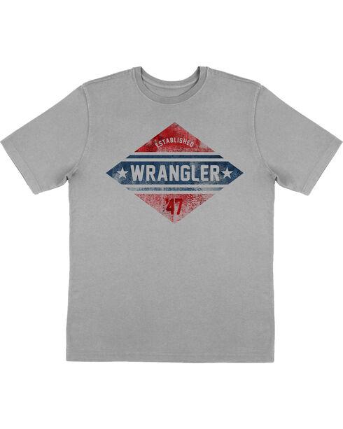 Wrangler Retro Boys' Screen Print Short Sleeve T-Shirt, Grey, hi-res