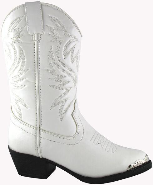 Smoky Mountain Toddler Girls' Mesquite Western Boots - Round Toe, White, hi-res