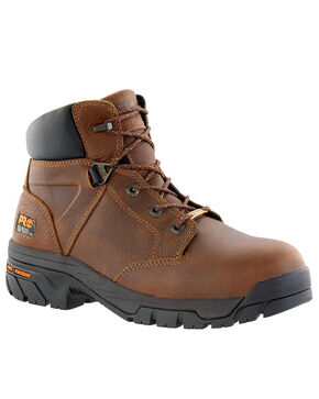 "Timberland Pro Men's 6"" Helix Waterproof  Work Boots - Alloy Toe , Brown, hi-res"