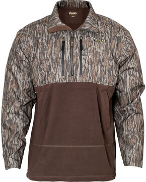 Rocky Men's Waterfowl 1/2 Zip Pullover , Camouflage, hi-res