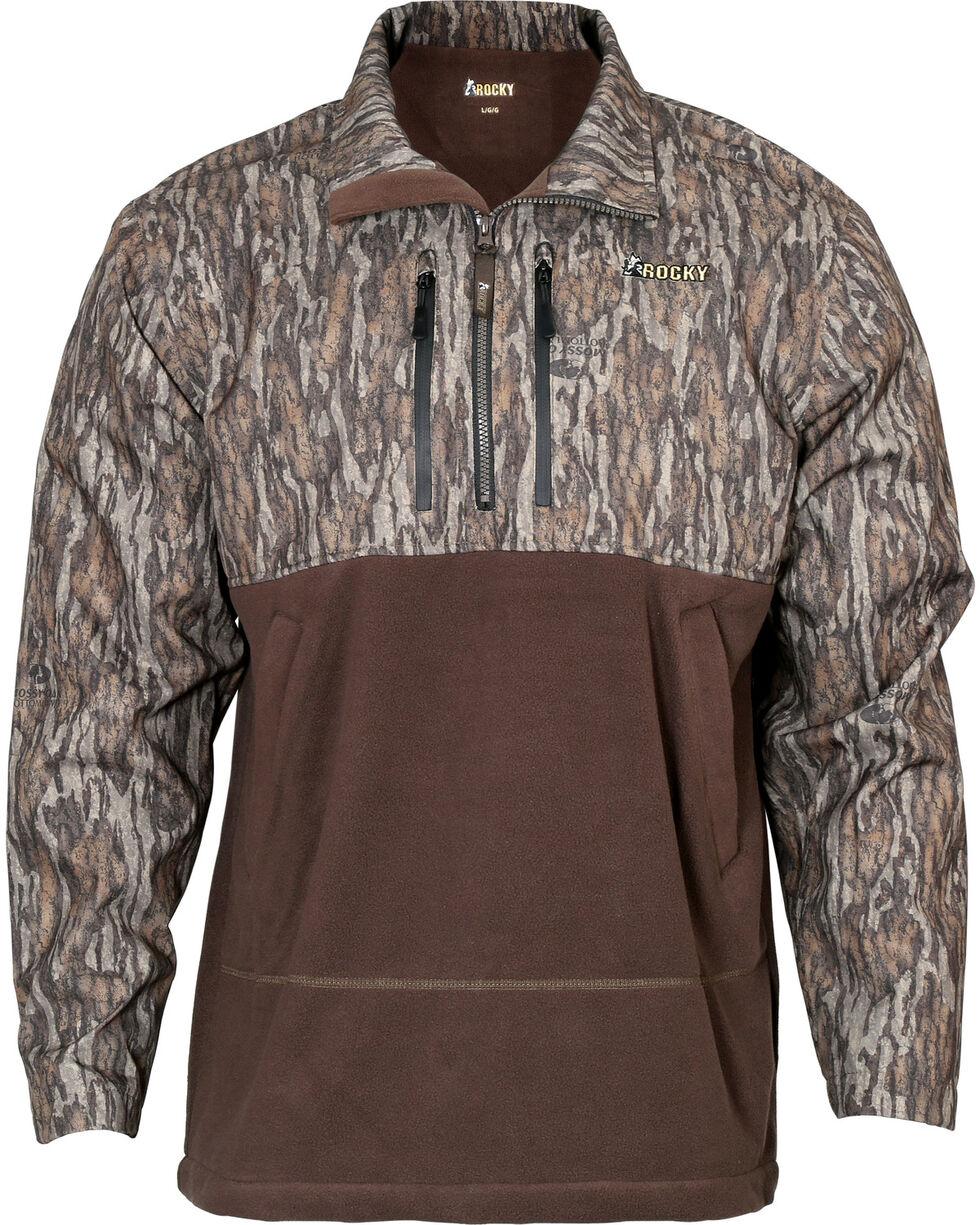 Rocky Men's Waterfowl 1/2 Zip Pullover , Camouflage, hi-res