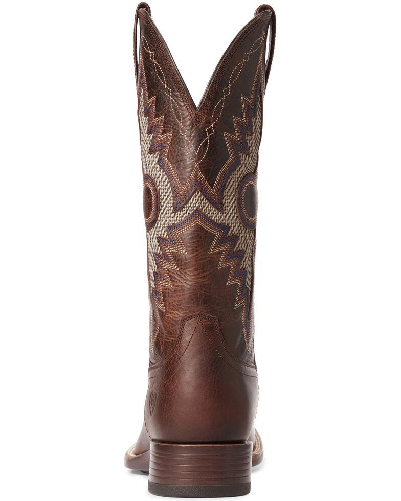Ariat Men's Solado VentTEK Western Boots - Wide Square Toe, Dark Brown, hi-res