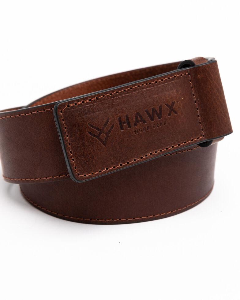 Hawx Men's Scratchless Work Belt , Brown, hi-res