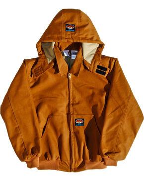 Rasco Men's Brown FR Duck Hooded Jacket - Tall, Brown, hi-res
