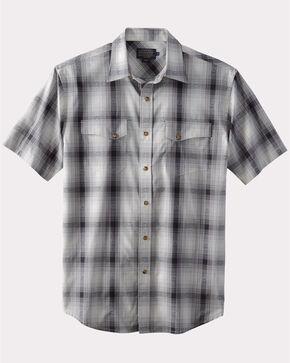 Pendleton Men's Grey Dressy Western Short Sleeve Shirt , Grey, hi-res