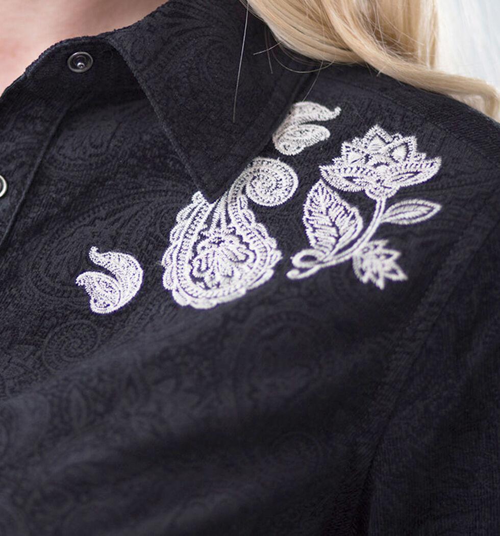Ryan Michael Women's Embossed & Embroidered Dress, Black, hi-res