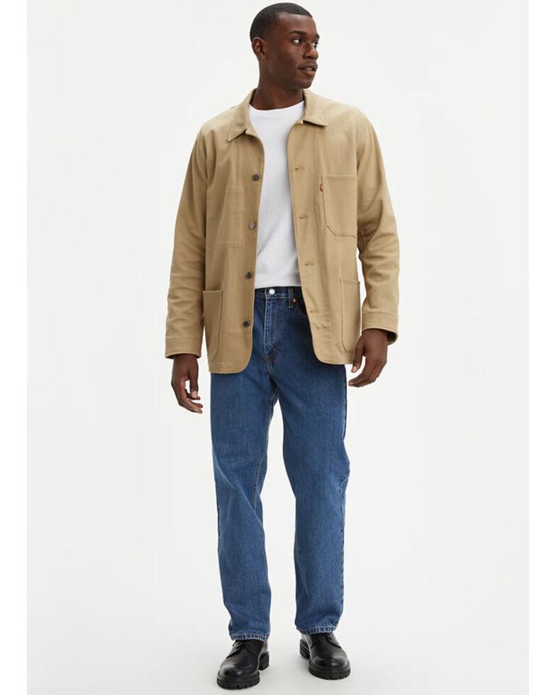 Levi's Men's 550 Prewashed Relaxed Tapered Leg Jeans , Stonewash, hi-res