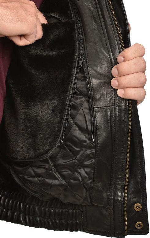 Vintage Leather Zip Out Lining Black Lambskin Bomber Jacket, , hi-res