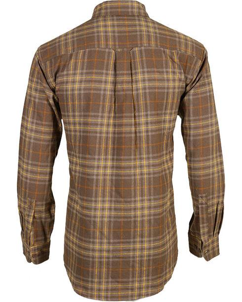 Wolverine Men's Hammond Plaid Flannel Shirt, Dark Brown, hi-res