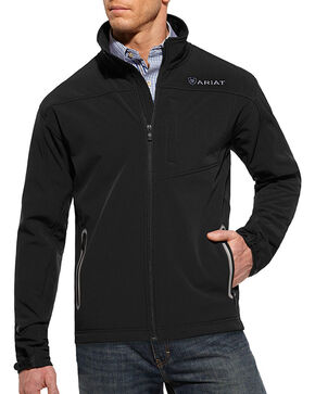Ariat Men's Black Vernon Softshell Jacket , Black, hi-res