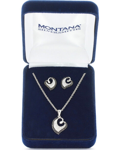 Montana Silversmiths Women's Dancing Hearts Jewelry Set, No Color, hi-res